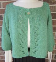 wool, cropped jacket, crocheted edges, knit, lace