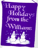 personalized, Christmas, wall hanging, banner, custom, knit